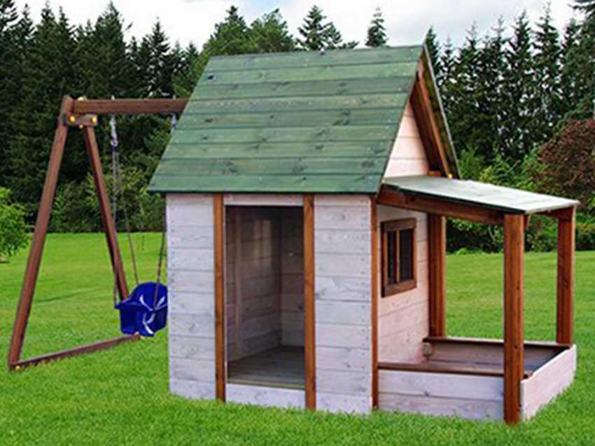 Детский игровой домик для дачи своими руками - фото примеров