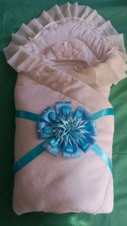 Бант на выписку из роддома: делаем конверт на резинке для девочки и для мальчика