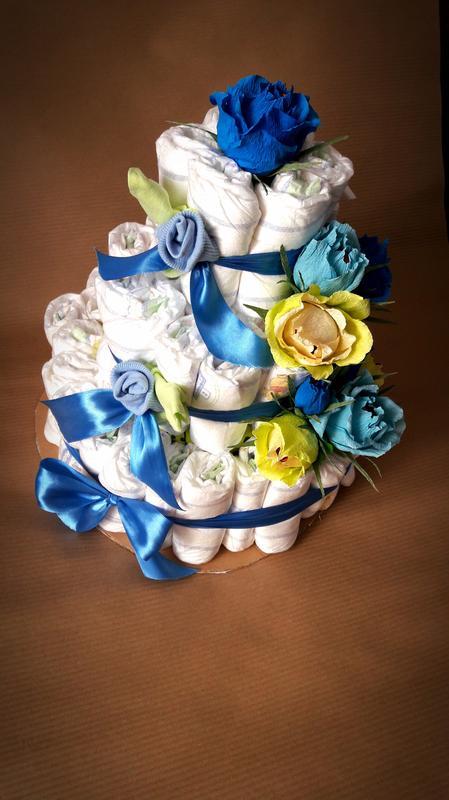 Торт из памперсов своими руками: пошагово, как украсить, как презентовать, видео.