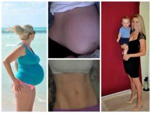 Как уходит вес после родов?