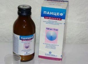 Панцеф: полная инструкция по применению суспензии для детей с расчетом дозировки, аналоги антибиотика