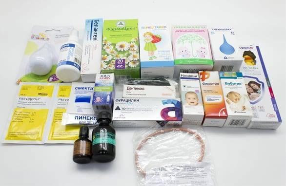Аптечка для новорожденного: состав и список того, что нужно для младенца