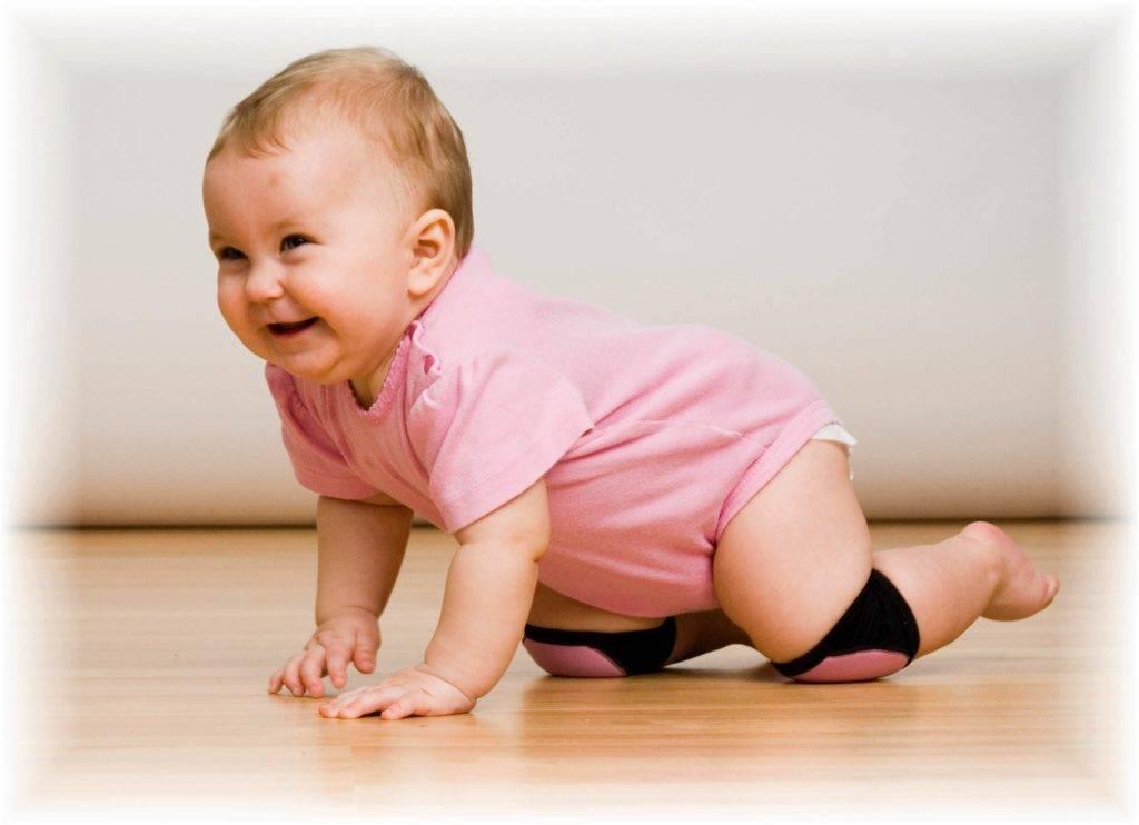 Как научить ребенка ползать в 5 – 8 месяцем на четвереньках?