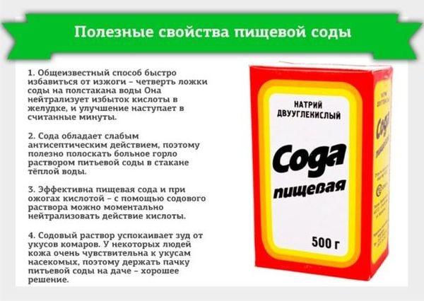 Сода пищевая: полезные свойства, применение и лечение болезней