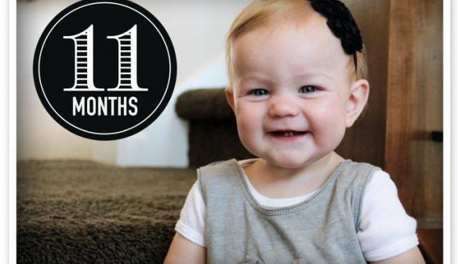 Как развивается ребенок в 11 месяцев