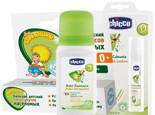Средства от комаров для детей до года и старше