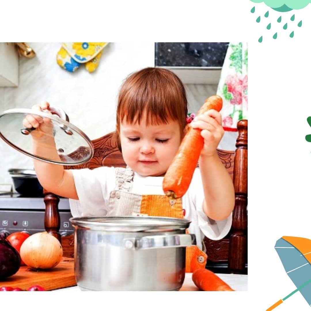 Дети на кухне. играем и учим готовить | цветы жизни