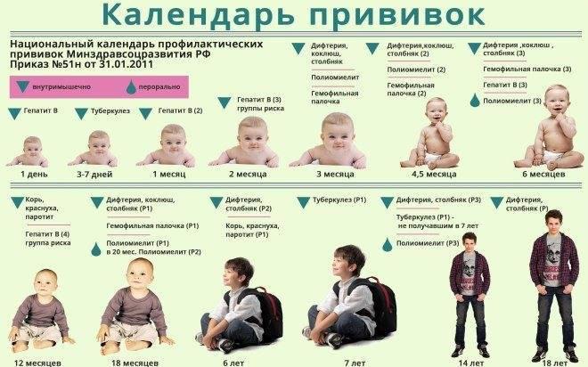 Периодичность вакцинации против полиомиелита