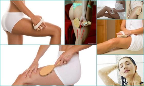 Антицеллюлитная щетка для тела: как делать сухой массаж, какую щетку выбрать