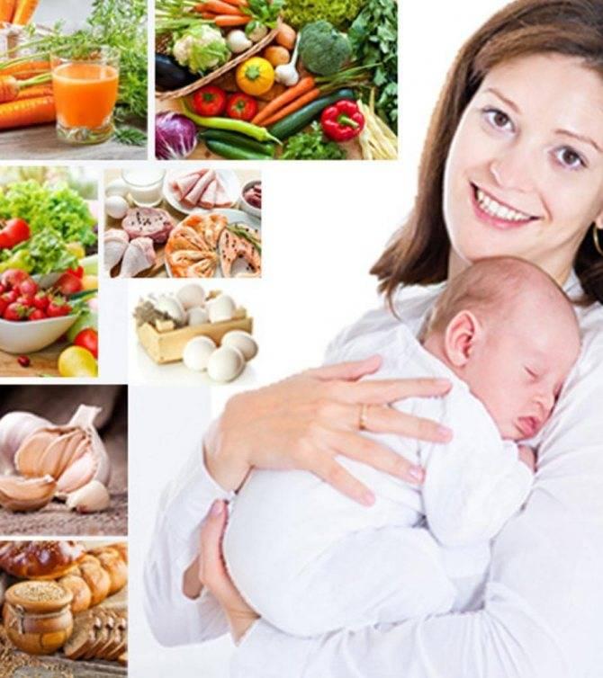 Диета кормящей мамы при коликах у ребенка - меню и питание