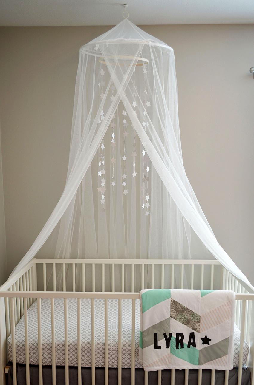 Выкройка и пошив балдахина на детскую кроватку своими руками
