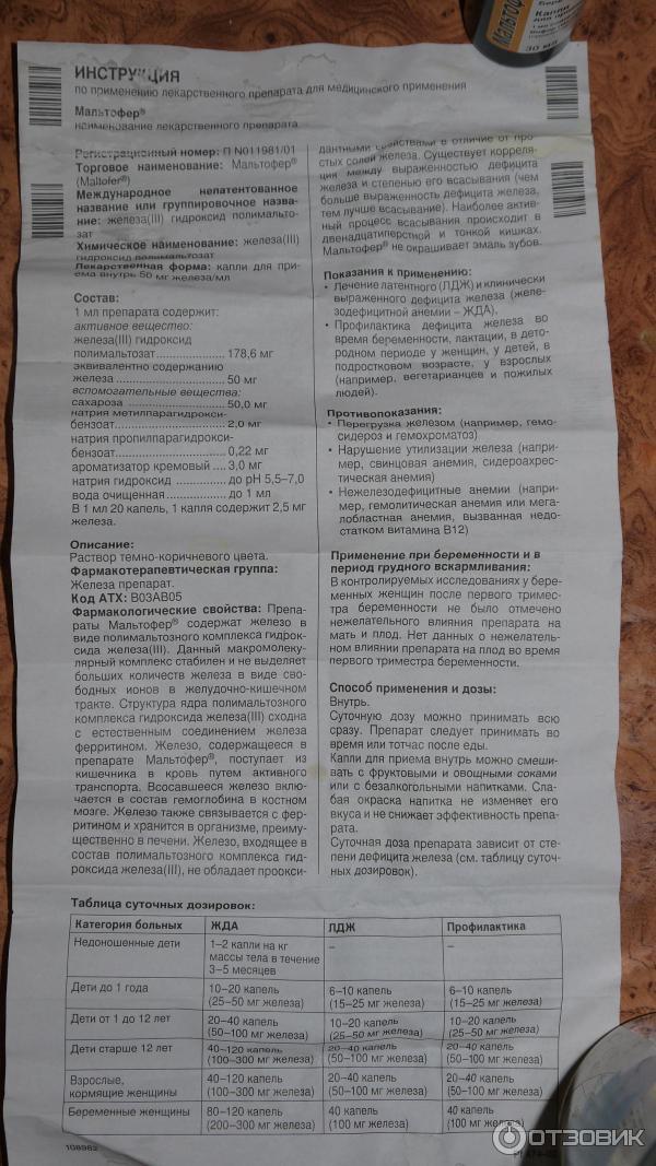 Капли мальтофер для детей: отзывы и инструкция по применению | fok-zdorovie.ru