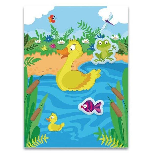 Занятие с ребенком: аппликации со стикерами для самых маленьких