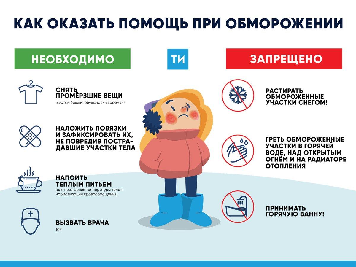Первая помощь при обморожении: что делать при переохлаждении и отморожении?