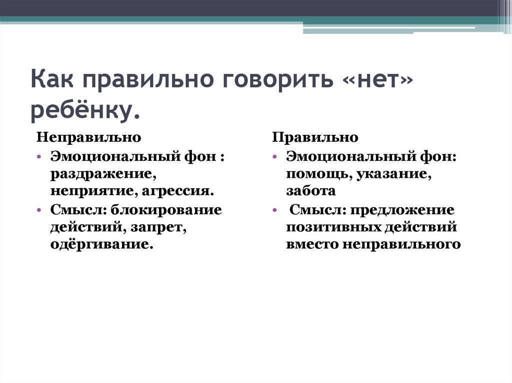 5 способов сказать ребенку «нет» - parents.ru