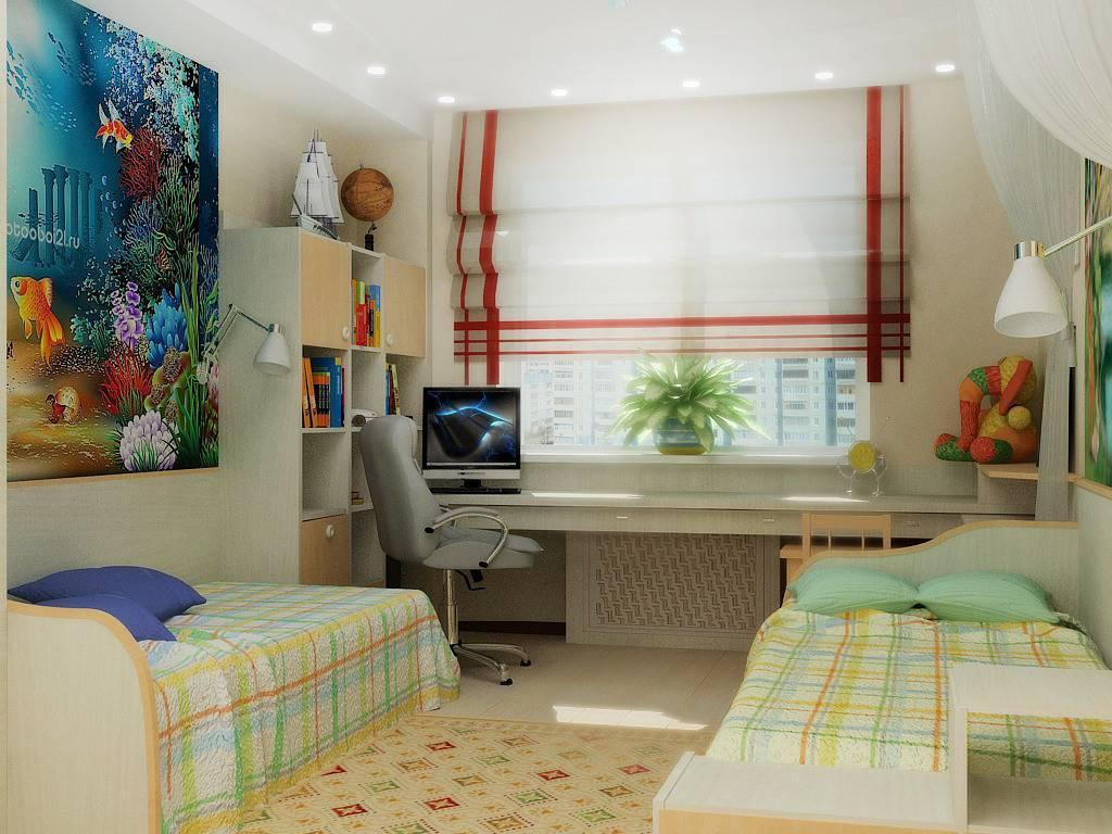 Дизайн детской комнаты для двух разнополых детей: советы и 50 фото