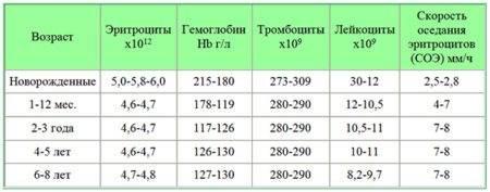 Повышенный уровень тромбоцитов в крови у ребенка