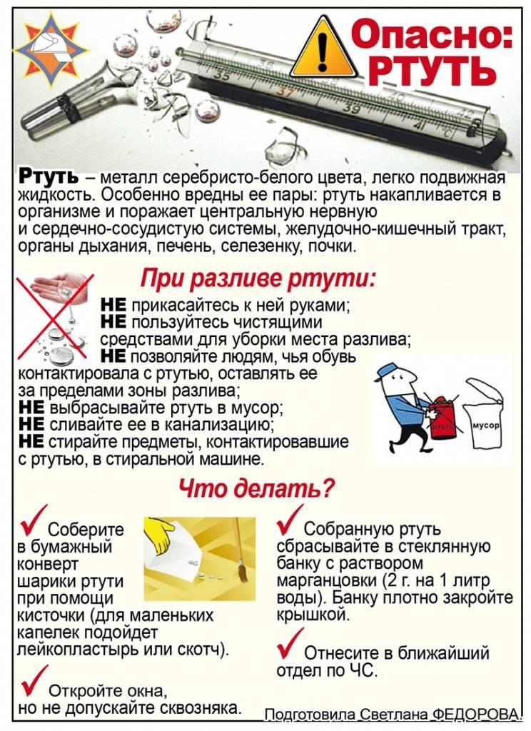Разбился градусник в квартире: что делать, как убрать ртуть с пола | lisa.ru