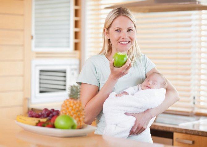 Какие фрукты и овощи можно есть при грудном вскармливании в первый месяц