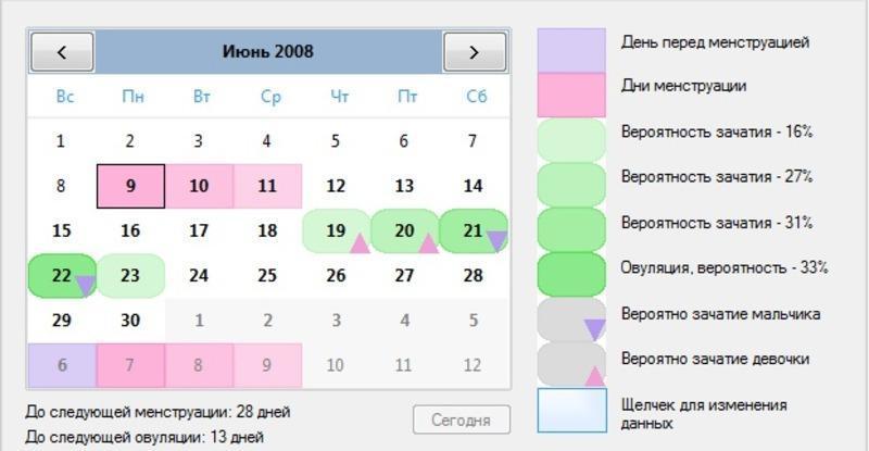 Рассчитать дату родов