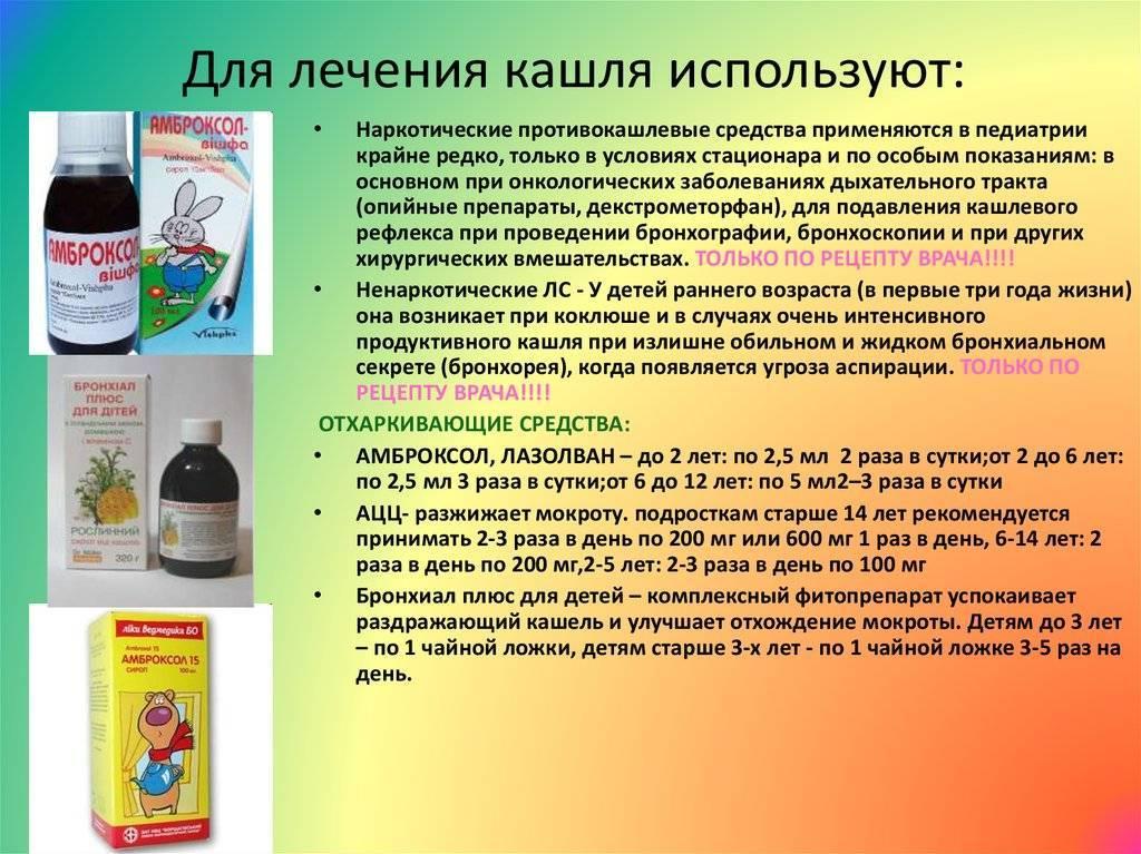 Какие лекарства от кашля можно пить ребенку в 1 год