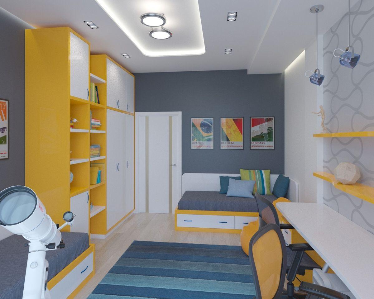 Детская 15 кв м: дизайн, фото интерьера комнаты, вариант проекта для двоих