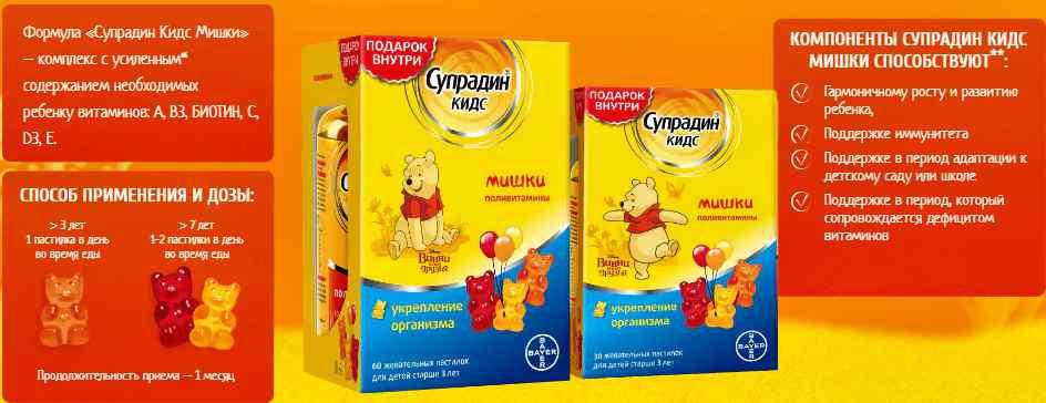 Супрадин кидс — разновидности витаминов для детей и подростков, инструкция по применению и побочные эффекты