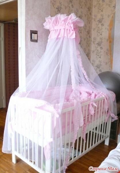 Как сшить балдахин на детскую кроватку быстро и просто: фото пошагово   своими руками
