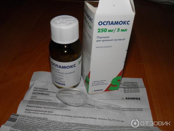 Применение антибиотика оспамокс у детей