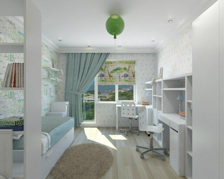 Дизайн детской с балконом