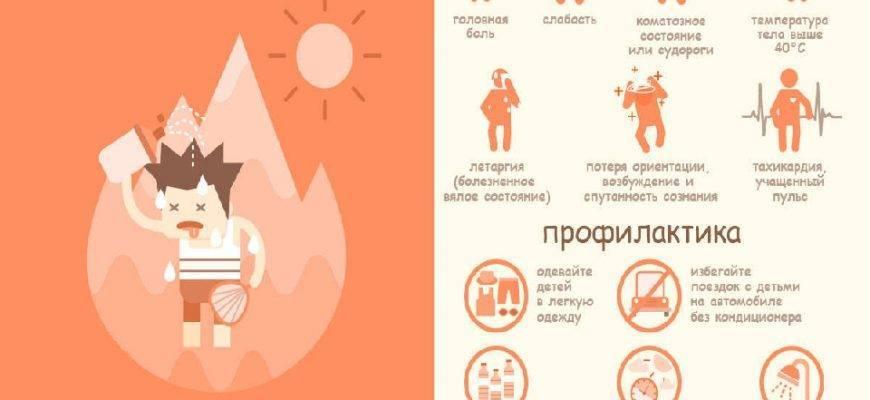 Тепловой удар — симптомы, причины и первая помощь при тепловом ударе взрослым и детям