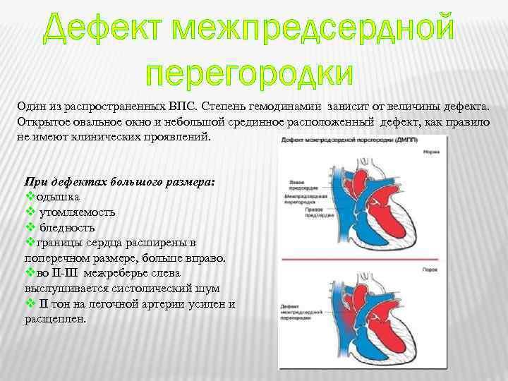Дефект межпредсердной перегородки сердца у детей и взрослых причины симптомы как лечить — сердце