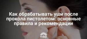 Сколько обрабатывать уши после прокола - советы врачей
