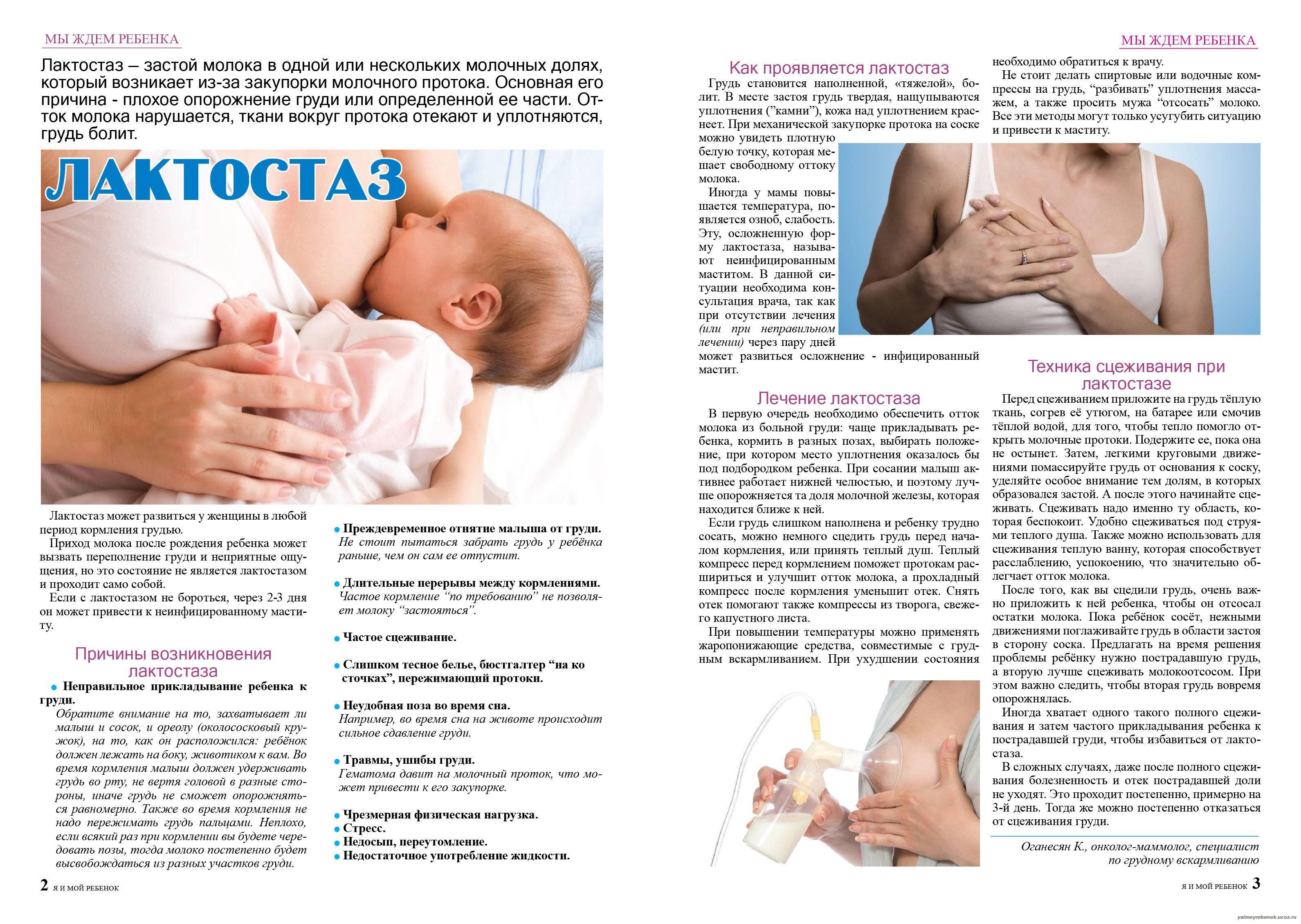 Как нужно разрабатывать грудь после родов и расцеживаться?