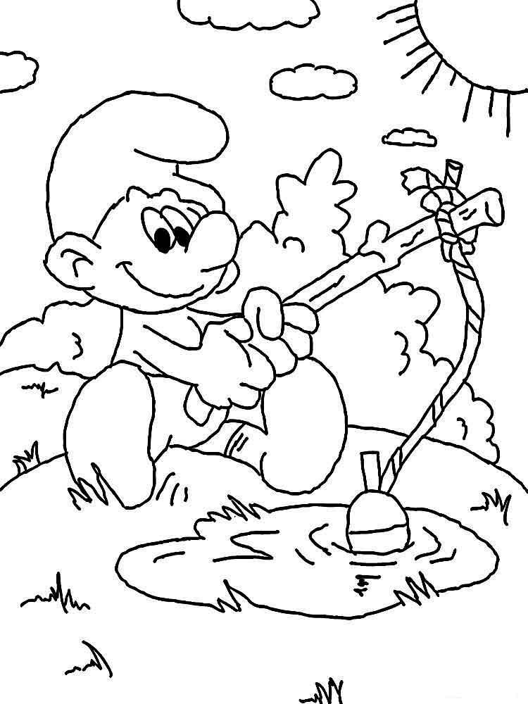 Раскраски смурфики (smurfs). раскраска смурфы - smurfs coloring pages