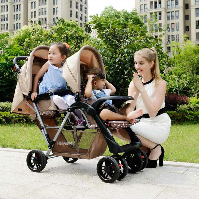Коляска для двойни прогулочная, для новорожденных двойняшек 1 в 1, 2 в 1, 3 в 1 – как выбрать коляску?