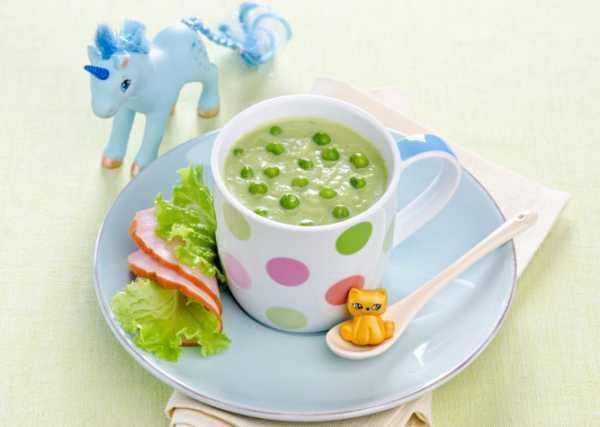 Можно ли годовалому ребенку гороховый суп с курицей, копченостями и без мяса