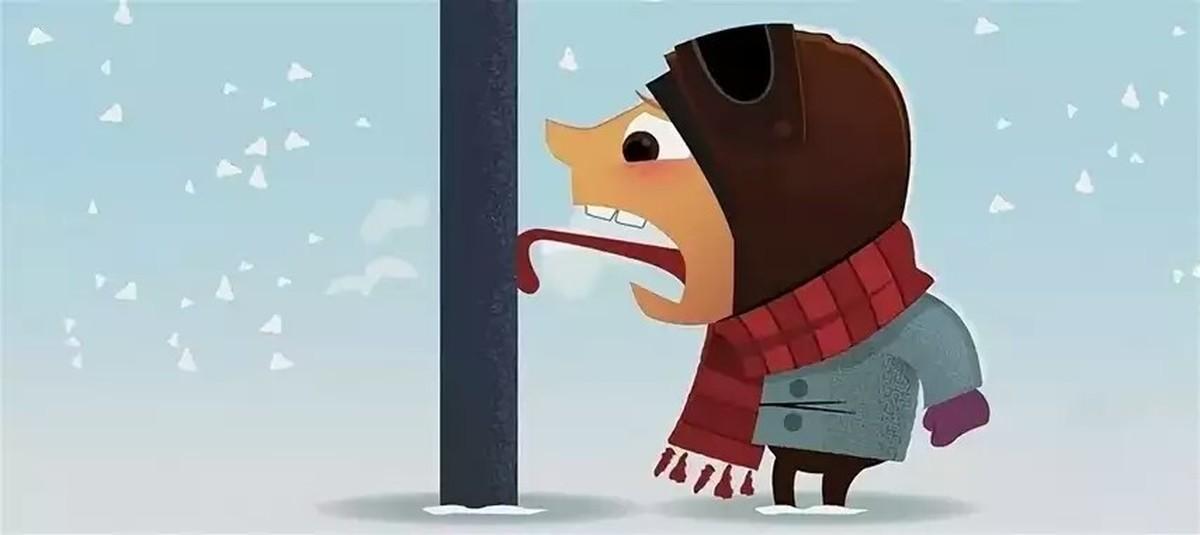 Что делать, если ребенок примерз языком к железу зимой: меры первой помощи