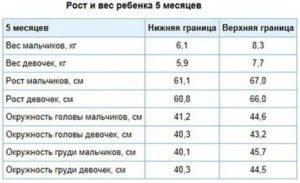 Таблица введения прикорма при грудном вскармливании
