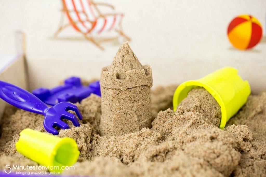 Игры с кинетическим песком: подборка идей с фото и видео