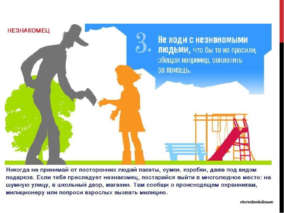 Правила поведения с незнакомцами для детей