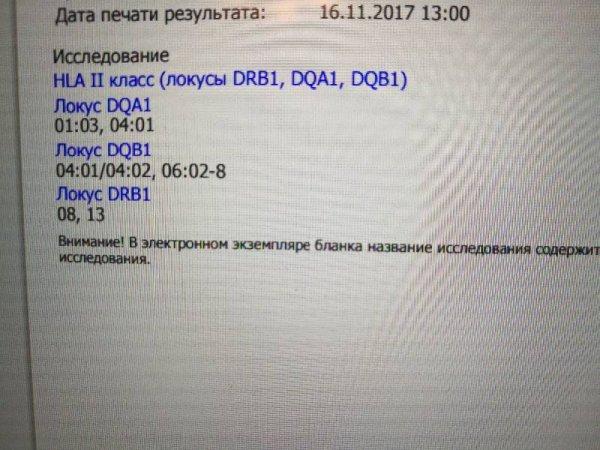 Расшифровка результатов hla-типирования супругов