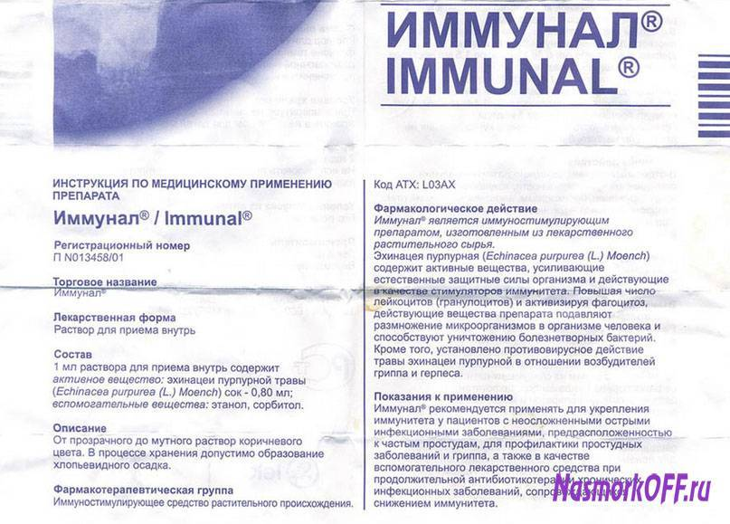 Что такое иммунал. детский «иммунал»: инструкция по применению раствора и таблеток для детей разного возраста