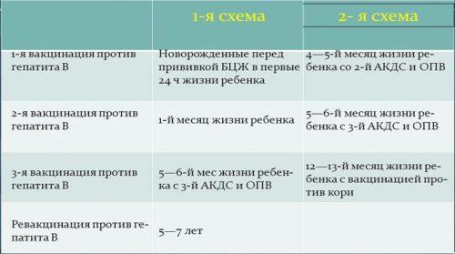 Вакцинация детей от гепатита а: показания, схема и отзывы о прививке
