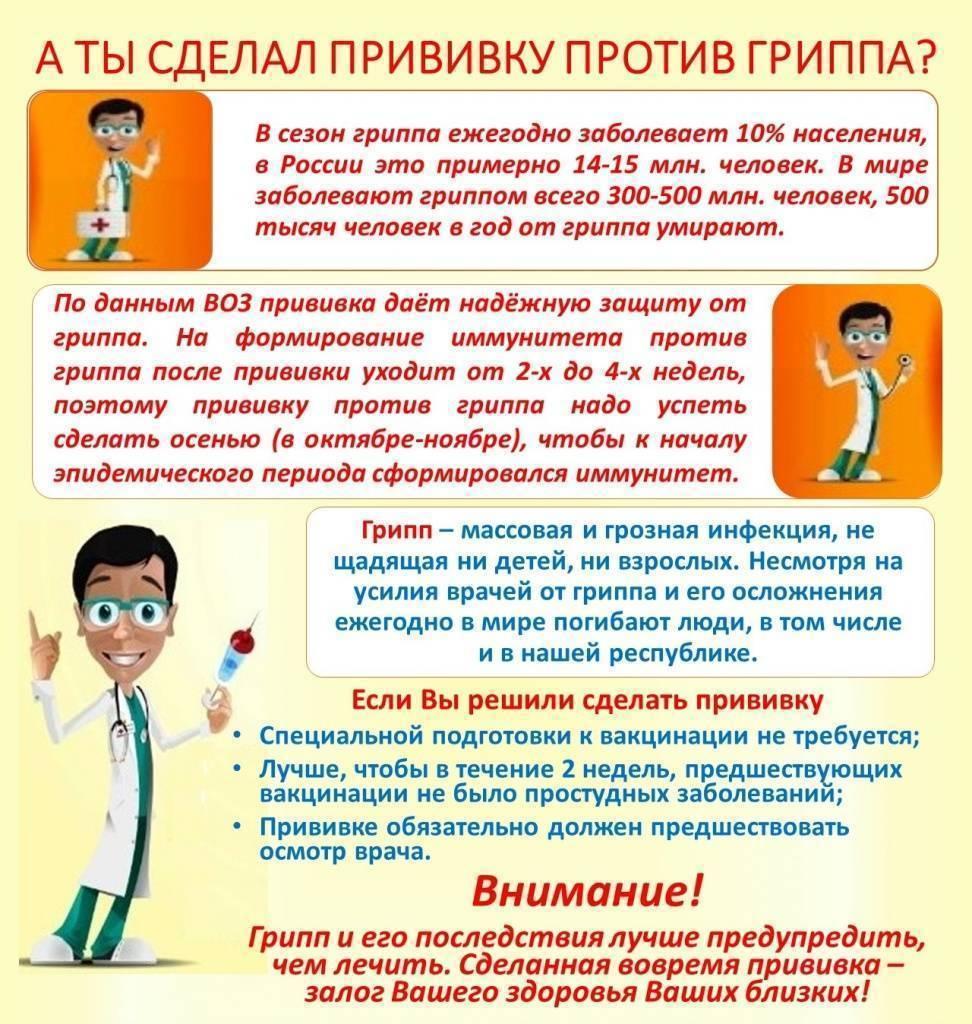 Прививка от гриппа: вакцины, противопоказания, осложнения, нужно ли делать