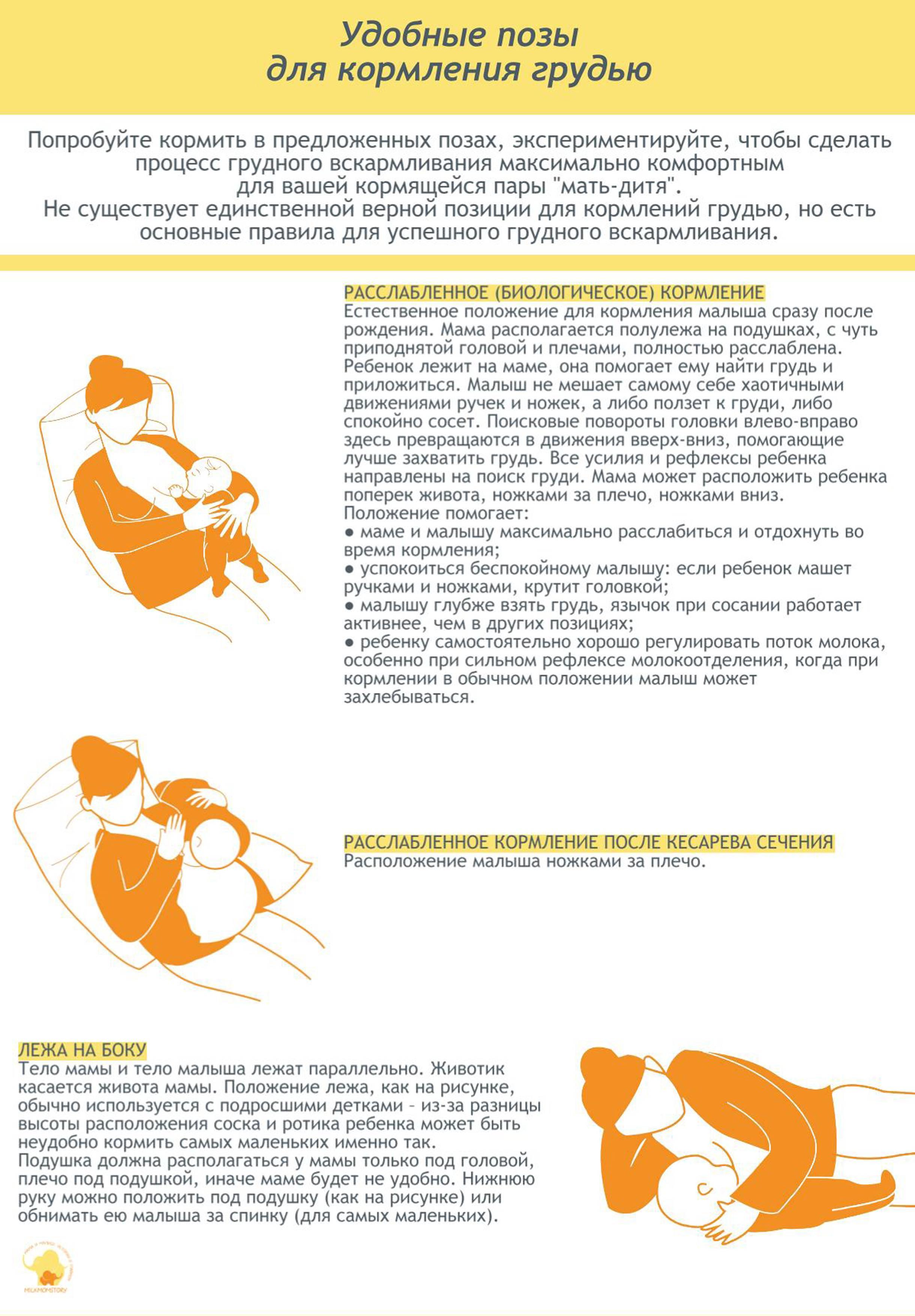 Как правильно кормить грудью новорожденного ребенка сидя, лежа и стоя / mama66.ru