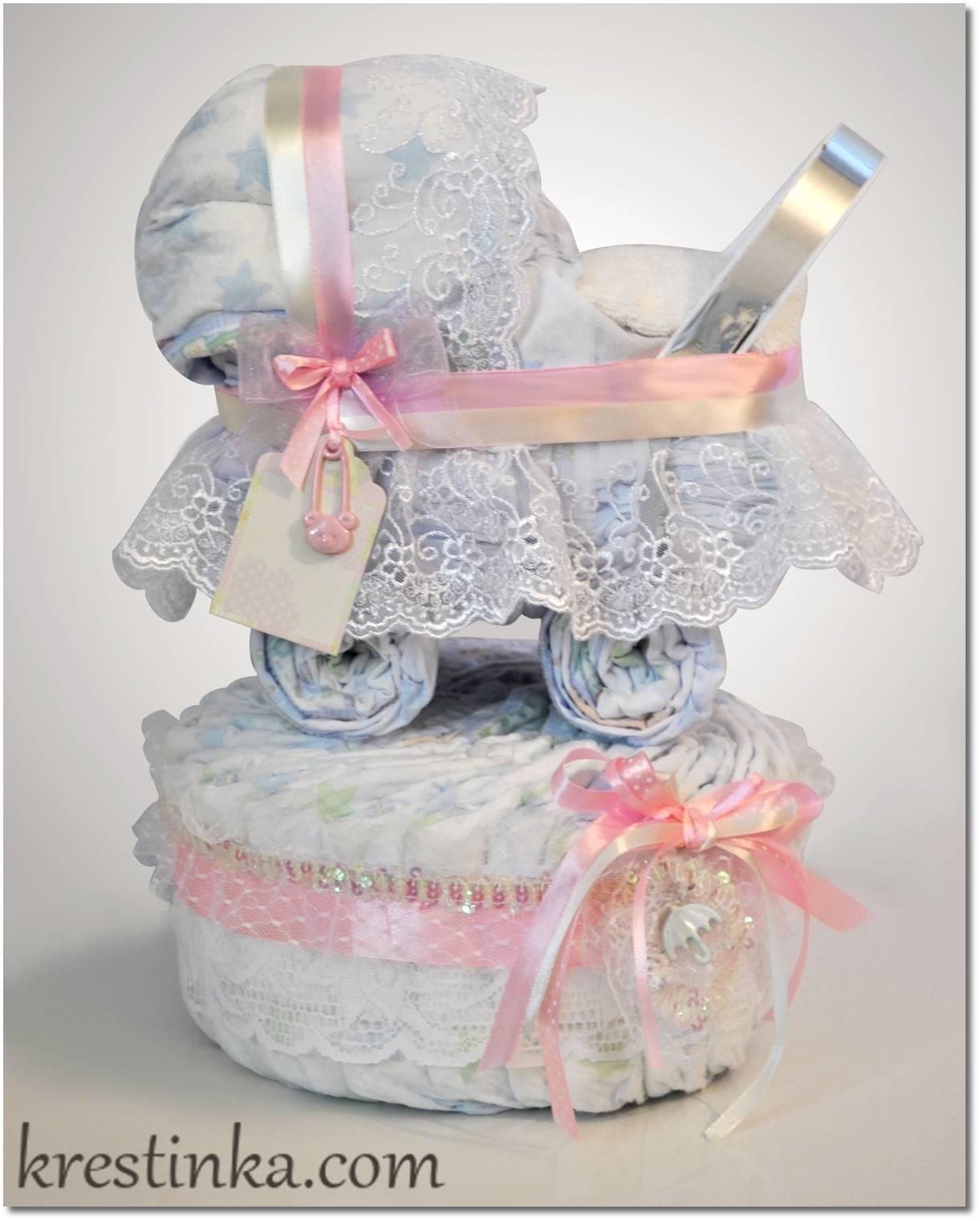Коляска из памперсов: как сделать отличный подарок своими руками | babynappy