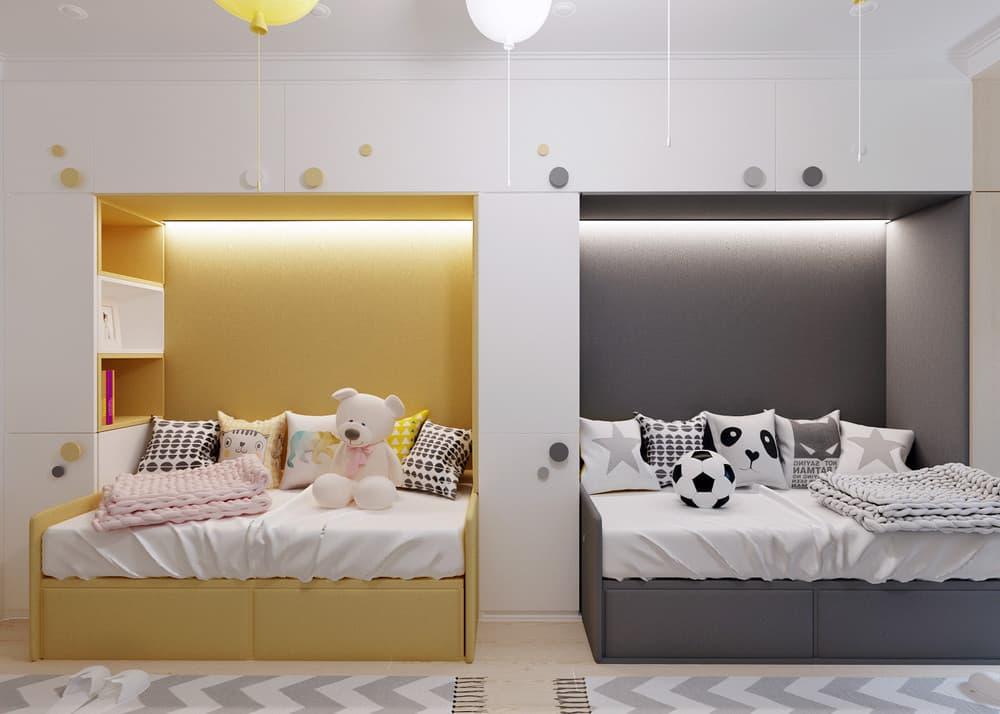 Дизайн детской для двух мальчиков: 75 идей оформления комнаты