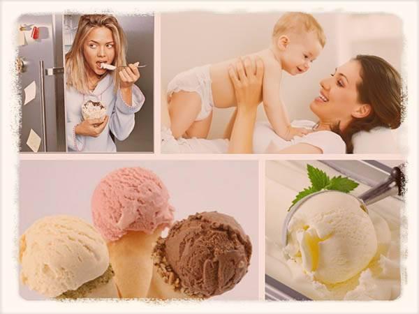Можно ли мороженное при грудном вскармливании маме