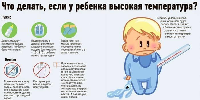 У ребенка в 2 года температура: как правильно ее сбивать